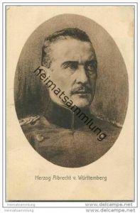 Herzog Albrecht von Württemberg - Wohlfahrts-Karte