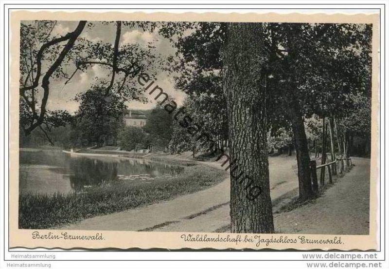 Berlin-Grunewald - Waldlandschaft - Jagdschloss Grunewald ca. 1935