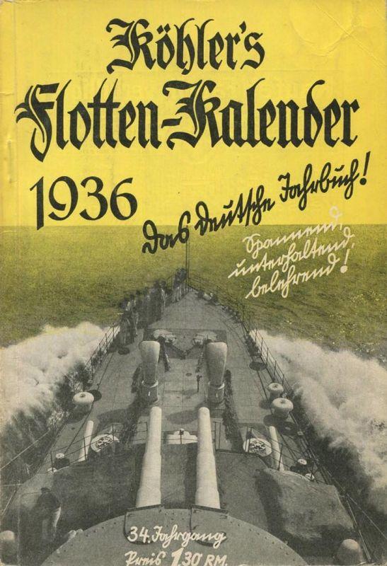 Köhlers Flotten-Kalender 1936 - 288 Seiten mit vielen Abbildungen