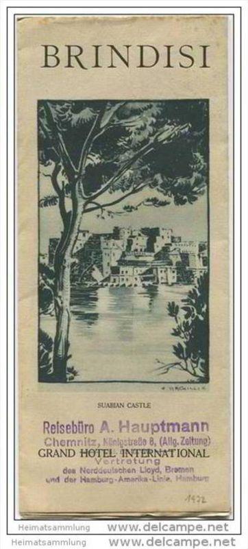 Italien - Brindisi 30er Jahre - Faltblatt mit 10 Abbildungen