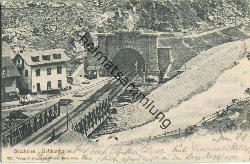 Göschenen - Gotthardtunnel - Verlag Gabler Interlaken