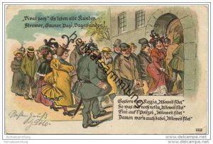 Gestern war Razzia ... - Damen waren auch dabei ... ca. 1900