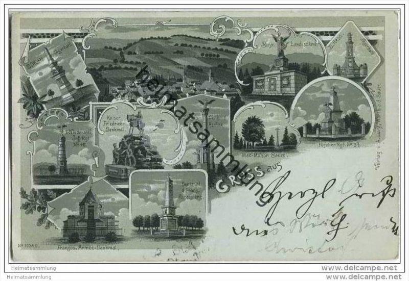 Gruss aus Wörth (Woerth) - Mehrbild - Kriegsdenkmäler