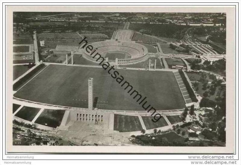 Berlin-Charlottenburg - Gesamtansicht Reichssportfeld - Amtliche Olympia-Postkarte 1936