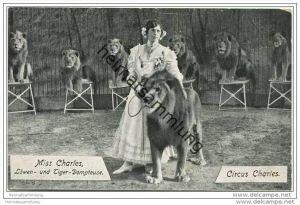 Circus Charles ab 1913 Circus Krone - Miss Charles (Ida Krone) - Löwen- und Tiger Dompteuse