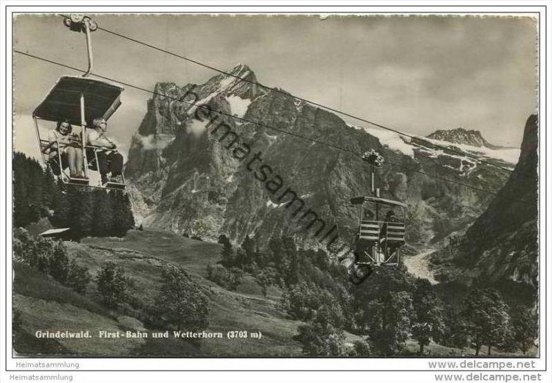 Grindelwald - First Bahn und Wetterhorn - Foto-AK