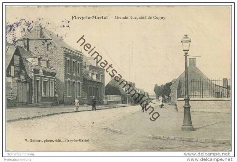Flavy-le-Martel - Grande Rue - cote de Cugny - Feldpost
