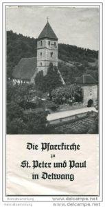 Detwang - Pfarrkirche zu St. Peter und Paul - Faltblatt mit 7 Abbildungen