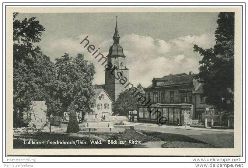 Friedrichroda - Blick zur Kirche