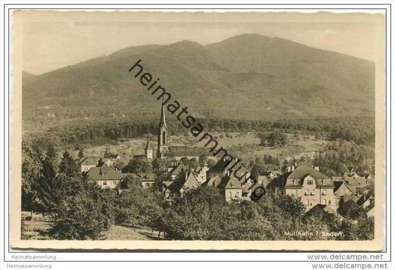 Müllheim - Gesamtansicht - Foto-AK 1939
