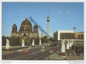 Berlin - Marx-Engels-Brücke mit Dom und Palast der Republik - AK Grossformat