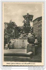 Szczecin - Stettin - Grüne Schanze mit Manzelbrunnen