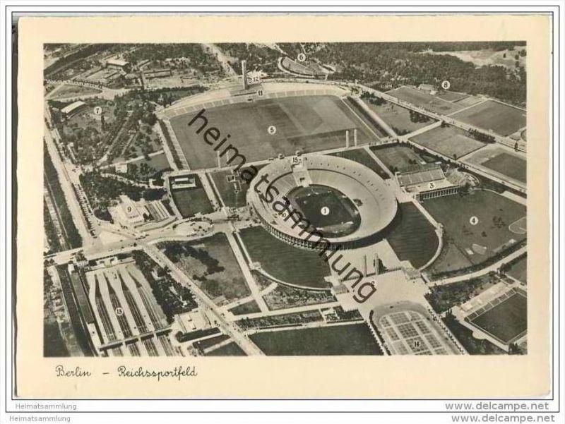 Berlin - Reichssportfeld - Olympia-Stadion - Hansa-Luftbild
