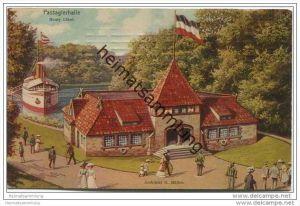 Hamburg - 16. Deutsches Bundesschiessen - Officielle Postkarte Hamburg 1909 - Passagierhalle Henry Löbel