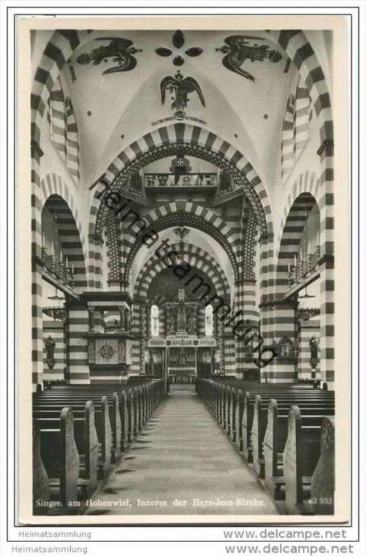 Singen - Herz-Jesu-Kirche - Foto-AK