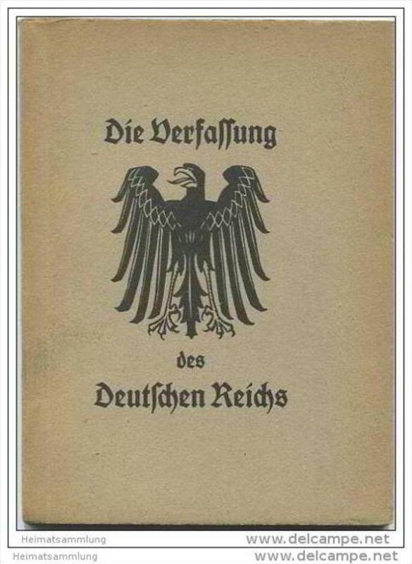 Die Verfassung des Deutschen Reichs vom 11. August 1919 - Den Schülern und Schülerinnen zur Schulentlassung