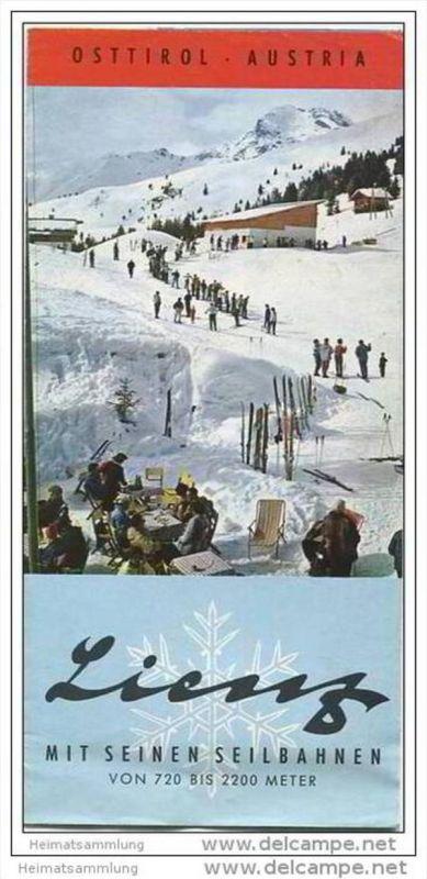 Lienz 60er Jahre - Faltblatt mit 12 Abbildungen