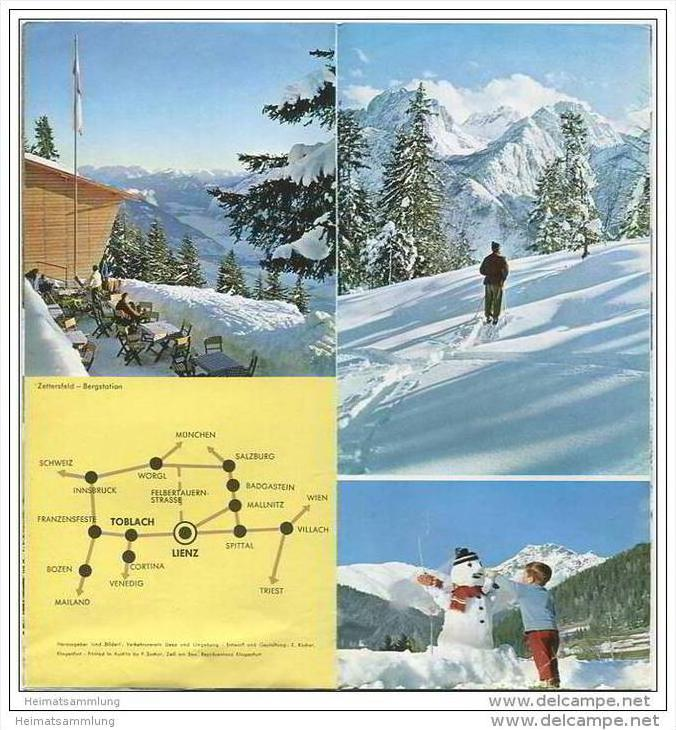 Lienz 60er Jahre - Faltblatt mit 12 Abbildungen 1