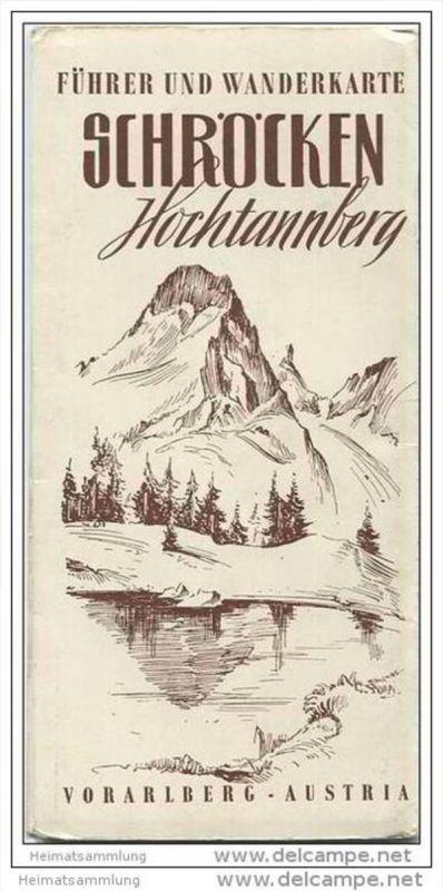 Schröcken - Hochtannberg - Führer 24 Seiten und Wanderkarte - Spaziergänge Wanderungen und Bergtouren