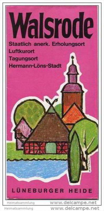 Walsrode 1974 - Faltblatt mit 11 Abbildungen - Faltblatt Vogelpark Walsrode