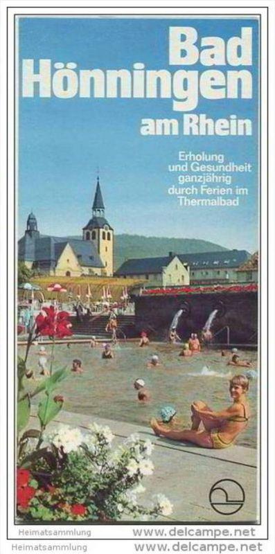 Bad Hönningen am Rhein 60er Jahre - Faltblatt mit 21 Abbildungen