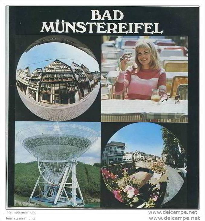 Bad Münstereifel 1973 - 16 Seiten mit 21 Abbildungen - Stadtplan und Unterkunftsverzeichnis