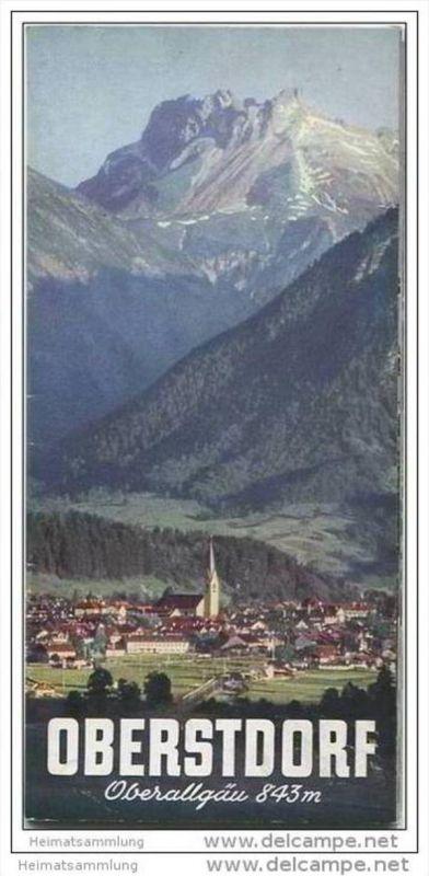 Oberstdorf 1953 - 12 Seiten mit 17 Abbildungen - Illustrationen von Senger Oberjoch