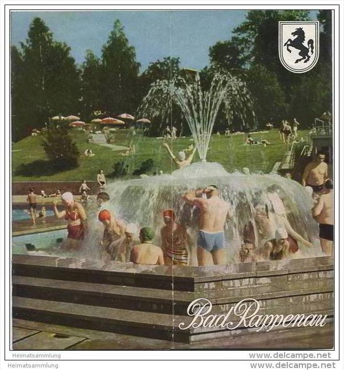Bad Rappenau 1956 - 12 Seiten mit 35 Abbildungen - Unterkunftsverzeichnis