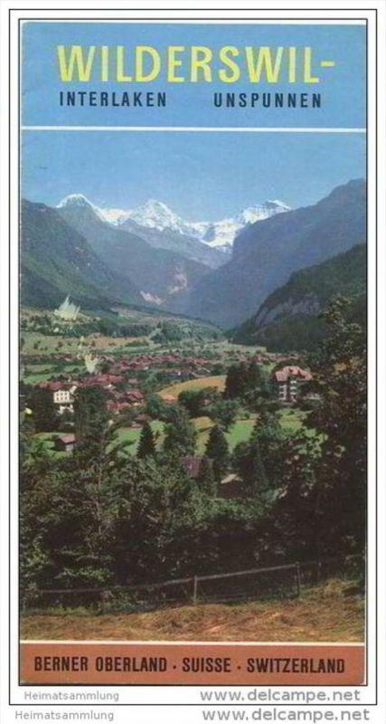 Wilderswil - Faltblatt mit 15 Abbildungen