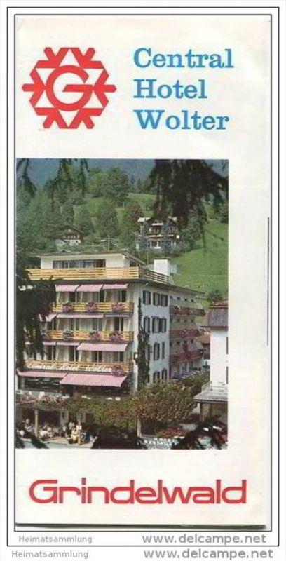 Grindelwald - Central Hotel Wolter Besitzer Familie Hans Balmer-Jossi - Faltblatt mit 13 Abbildungen