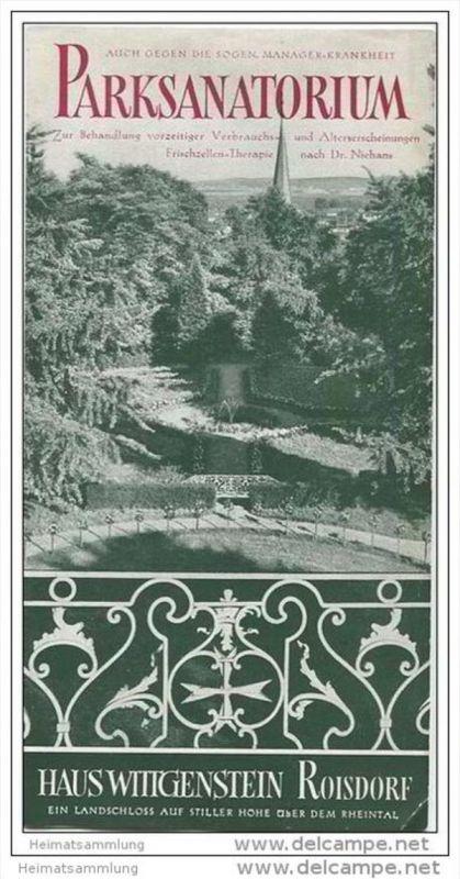 Roisdorf - Parksanatorium - Haus Wittgenstein - Faltblatt mit 7 Abbildungen