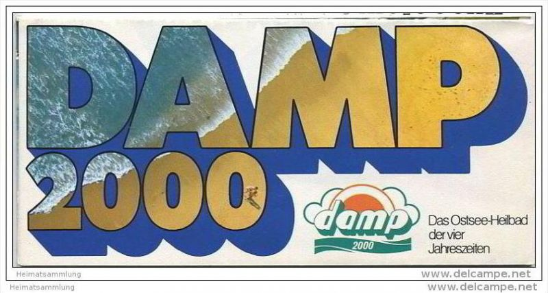 Damp 2000 70er Jahre - Faltblatt mit unzähligen Abbildungen