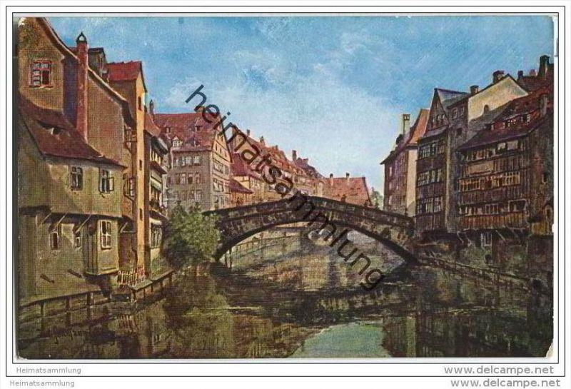 Nürnberg - Fleischbrücke - Künstlerkarte