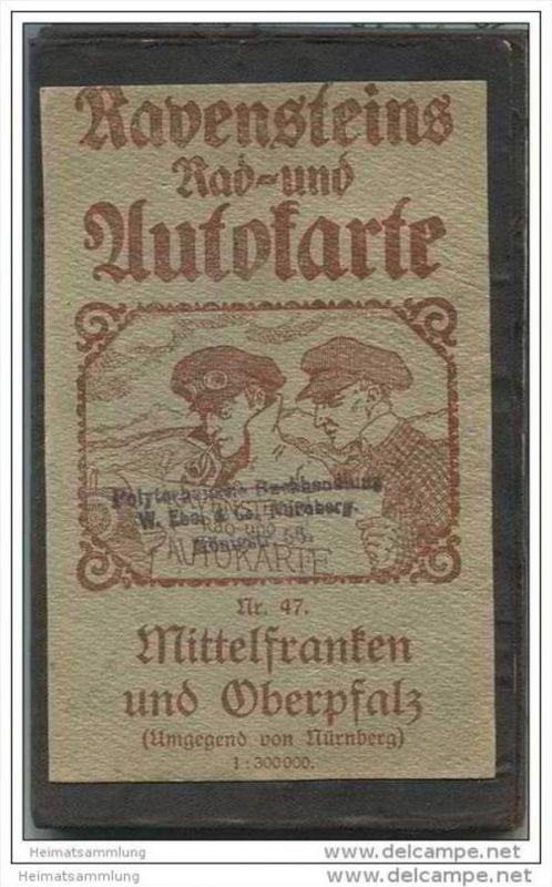 Ravensteins Rad- und Autokarte - Mittelfranken und Oberpfalz (Umgebung von Nürnberg) Nr. 47 - 1:300 000 - 60cm x 74cm