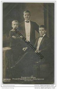Königreich Sachsen - Kronprinz Georg - Prinzen Friedrich Christian und Ernst Heinrich von Sachsen