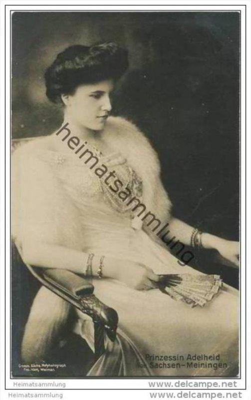 Preussen - Prinzessin Adelheid von Sachsen-Meiningen