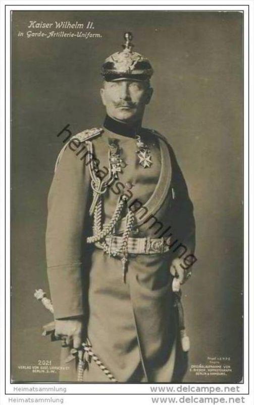 Preussen - Kaiser Wilhelm II. in Garde-Artillerie-Uniform