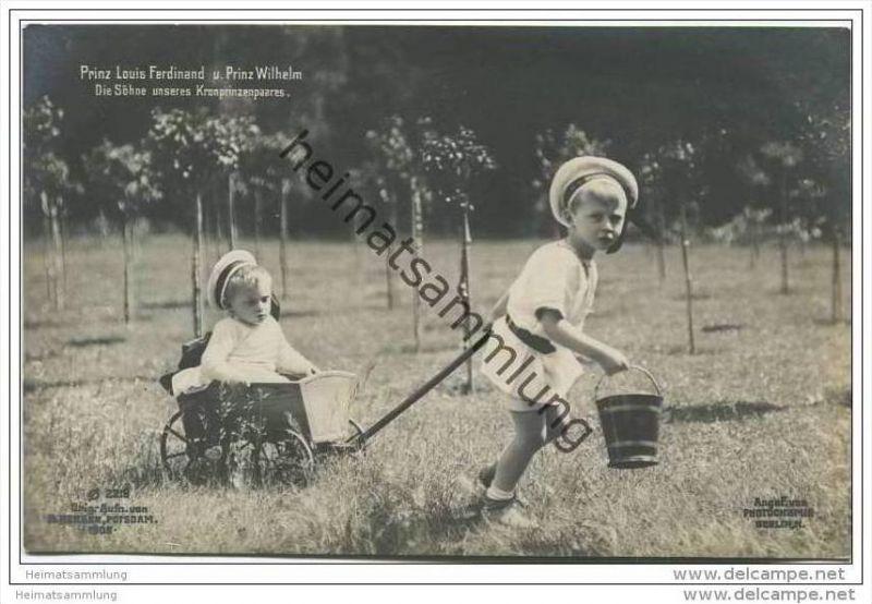 Prinz Wilhelm und Prinz Louis Ferdinand von Preussen - Söhne des Kronprinzenpaares
