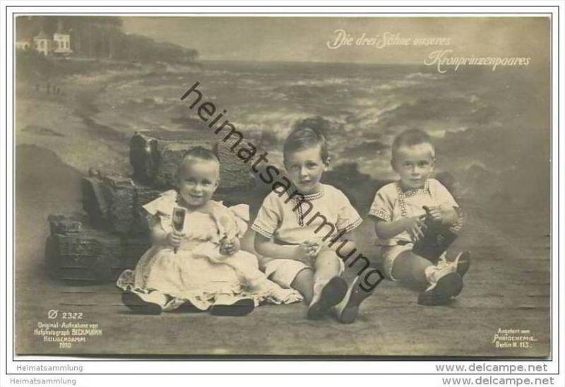 Die drei Söhne unseres Kronprinzenpaares