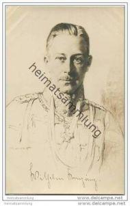 Kronprinz Wilhelm von Preussen - Künstlerkarte