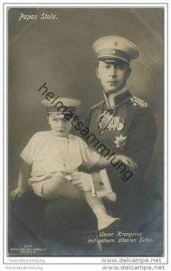 Kronprinz Wilhelm von Preussen mit Prinz Wilhelm von Preussen