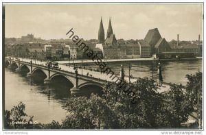 Frankfurt/Oder - Oderbrücke - Straßenbahn - Foto-AK