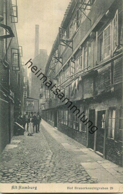Alt-Hamburg - Hof Brauerknechtgraben 29 - Verlag Knackstedt & Näther Hamburg