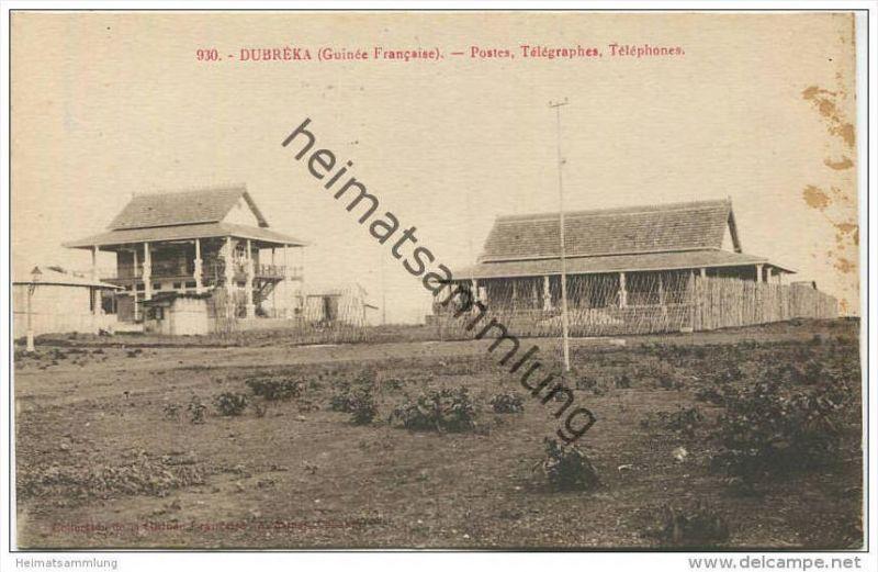 Guinée Francaise - Dubrèka - Postes - Telegraphes - Telephones
