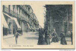 Alexandrie - Post office street - Rue de la Poste - Edition Art. P. Coustoulides Alexandrie