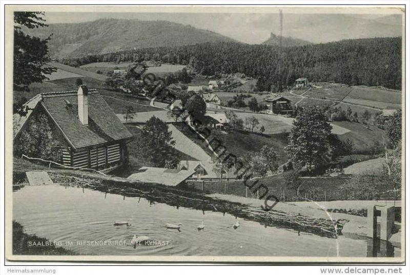 Saalberg im Riesengebirge - Verlag Paul Höckendorf Hirschberg - Rückseite beschrieben 30er Jahre