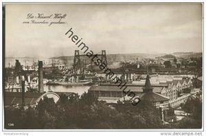 Kiel - Kaiserliche Werft von Gaarden gesehen - Foto-AK - Briefstempel Kaiserliche Marine I. Torpedoabteilung
