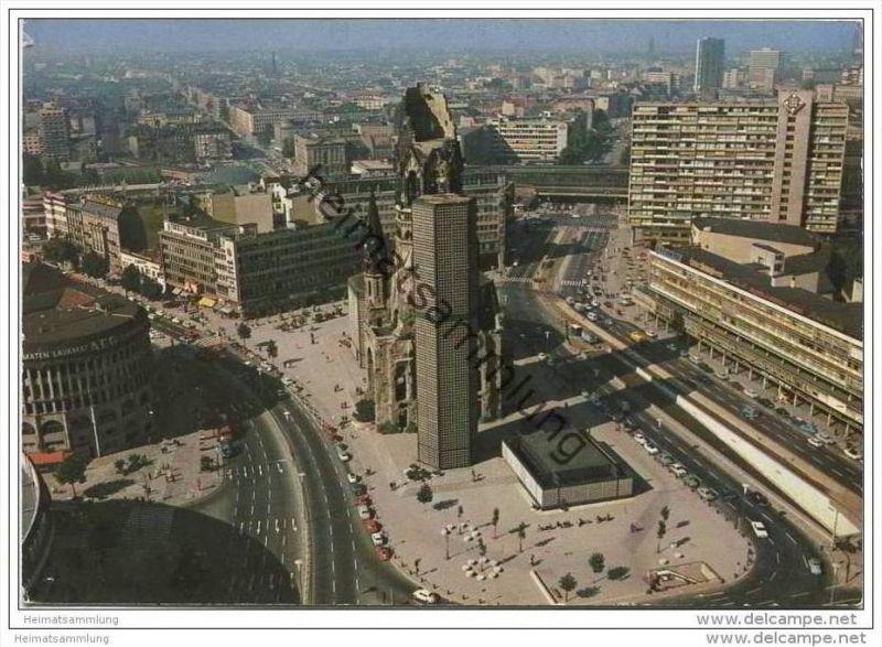 Berlin - Blick vom Europa-Center auf Kaiser Wilhelm Gedächtniskirche - AK Grossformat
