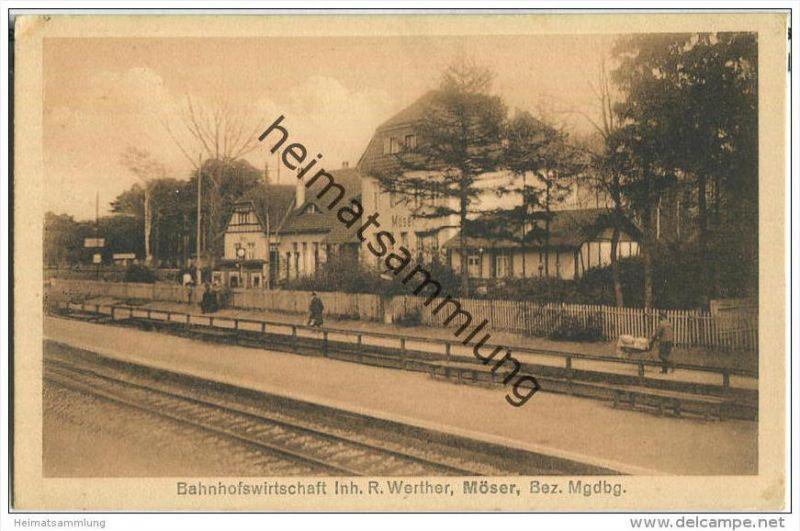 Möser - Bahnhofswirtschaft - Inhaber R. Werther