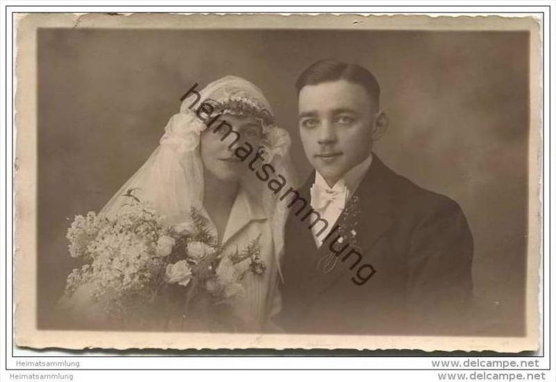 Hochzeit - Hochzeitsfoto-AK - Atelier Menzel Barmen-R. Bahnhofstrasse 7